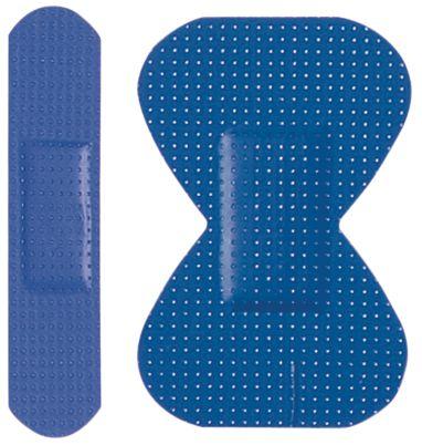 Pansements détectables bout de doigts bleus