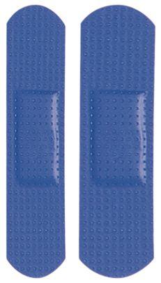 Pansements détectables bleus