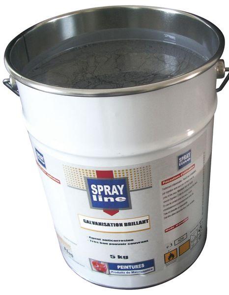 Peinture de galvanisation en pot ou en aérosol