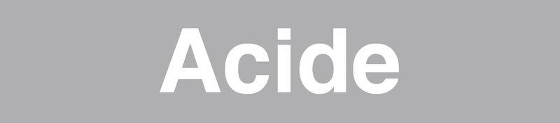 """Marqueurs de tuyauteries adhésifs transparent  """"Acide"""" (Acides et bases)"""