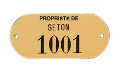 Plaques de firme gravées - Laiton, aluminium ou inox