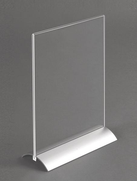 Présentoir de comptoir avec socle en aluminium