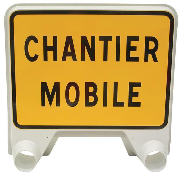 Panneau de signalisation temporaire en polypropylène - Chantier mobile