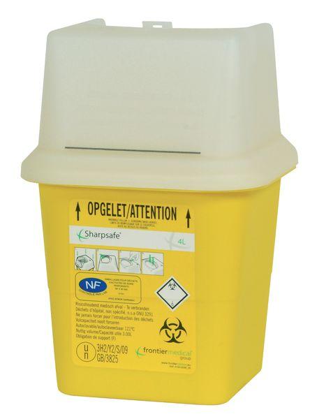 Récupérateur de déchets médicaux à clapets