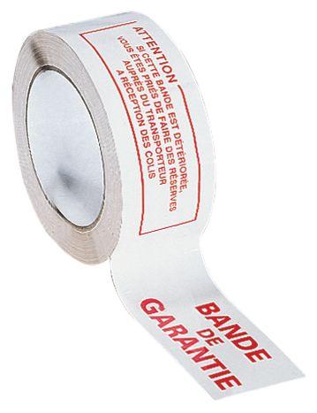 """Ruban d'emballage avec texte """"Bande de garantie"""""""
