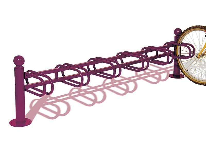 Range vélos sur pieds 6 places aux multiples coloris