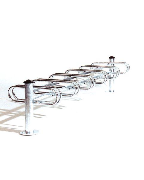 Range vélos sur pieds en acier 6 places double face