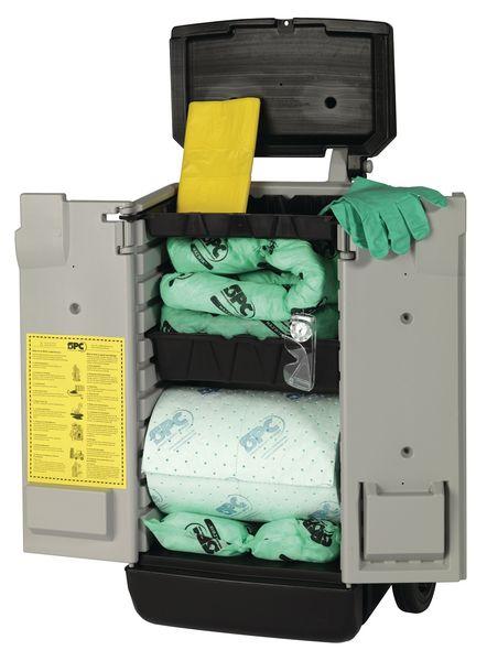 Kit absorbant pour produits chimiques en conteneur et chariot