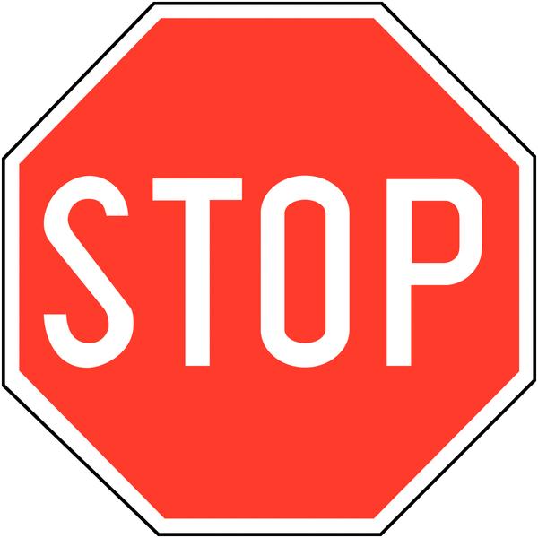 Panneaux de signalisation stop en aluminium seton fr - Prix d un panneau stop ...