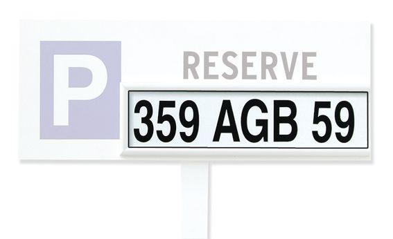 Plaque personnalisable pour panneau de parking modulaire