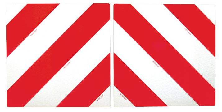Signalisation de grande longueur rétro-réfléchissante rouge et blanche