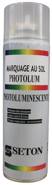 Peinture photoluminescente pour le marquage au sol en aérosol