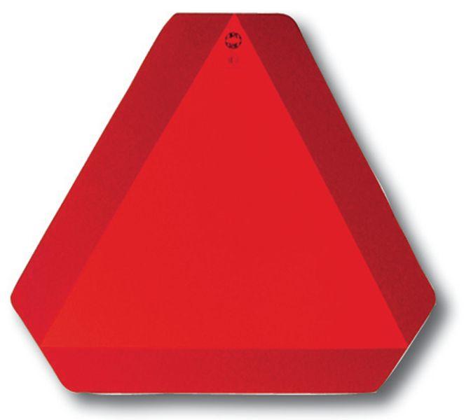 Triangle homologué rouge pour les véhicules lents