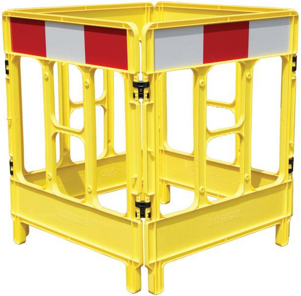 Barrières de chantier rigide Workgate en polypropylène jaune