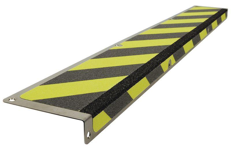 Plaques de marche antidérapantes en acier inoxydable coloré