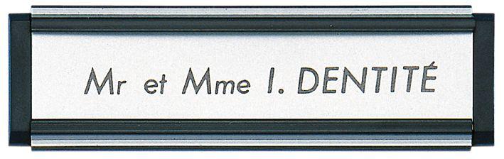 Porte-étiquettes en PVC avec plaque coulissante