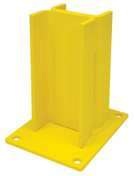 Supports pour madrier de protection en acier jaune
