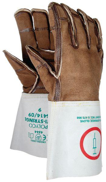 Gants anti-coupure en cuir, spécial seringues et déchets