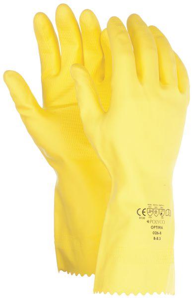 Gants chimiques en latex jaune, antibactériens et fongicides