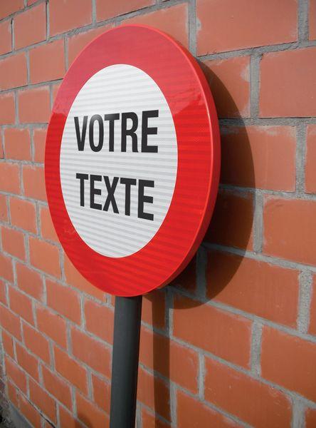 Panneaux de circulation anti-graffiti Premium rond personnalisé