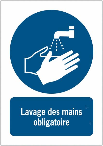 Panneaux nf en iso 7010 a3 a4 a5 lavage des mains obligatoire m011 seton fr - Mesure d hygiene en cuisine ...