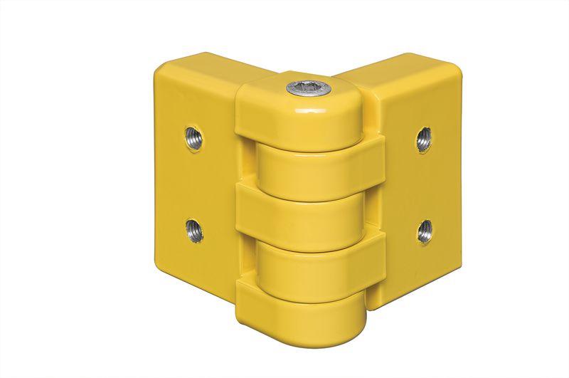 Angle articulé pour barrière de protection modulaire