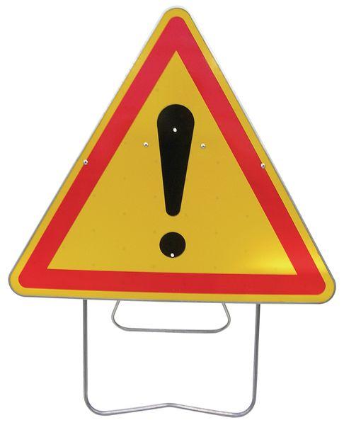 """Panneau de signalisation temporaire sur pied """"Danger général"""""""