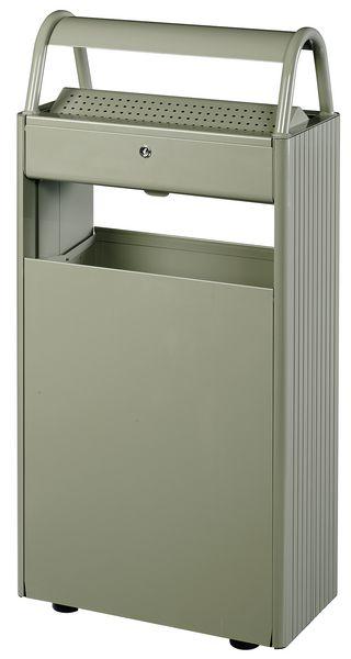 cendrier poubelle ext rieur sur pied 60 l seton fr. Black Bedroom Furniture Sets. Home Design Ideas