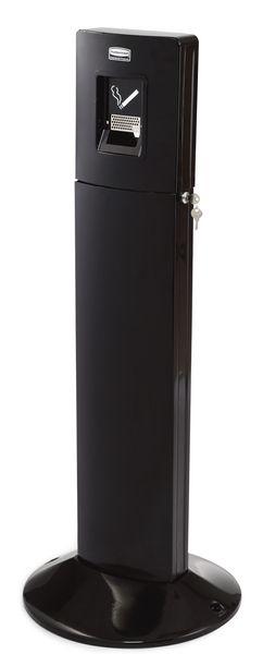 Cendrier sur colonne en acier avec base lestée