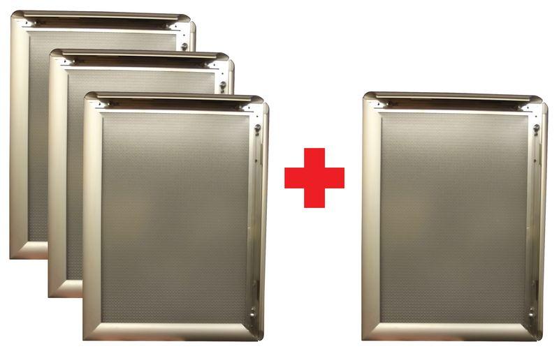 Cadres clic en aluminium 3 + 1 gratuit