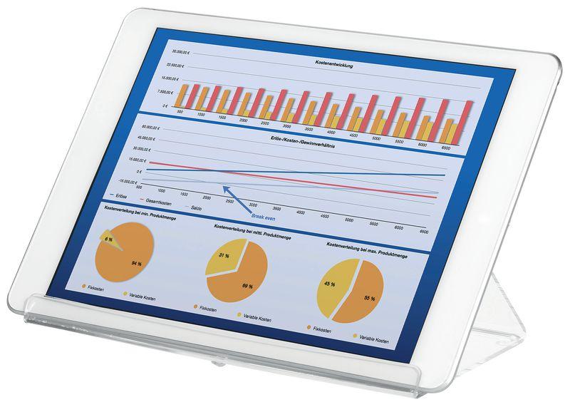 Support transparent pour tablette tactile