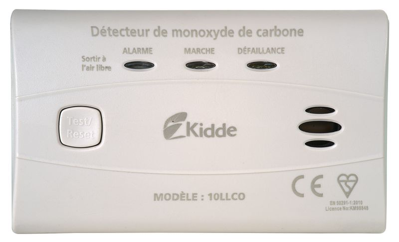 Détecteur autonome avertisseur de monoxyde de carbone Kidde