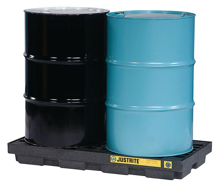 Palette de rétention mi-basse en polyéthylène recyclé
