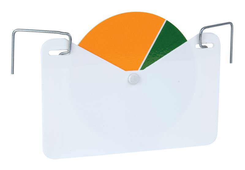 Indicateur de stock rotatif à couleur