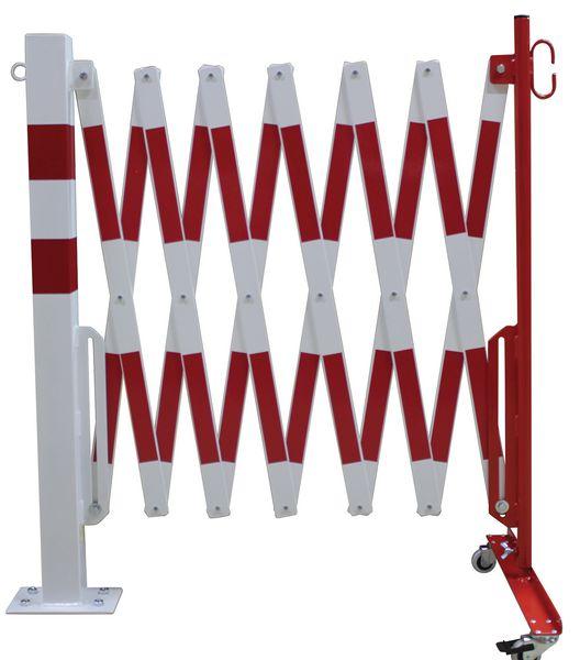 Barrières extensibles fixes sur pied pour entrepôt