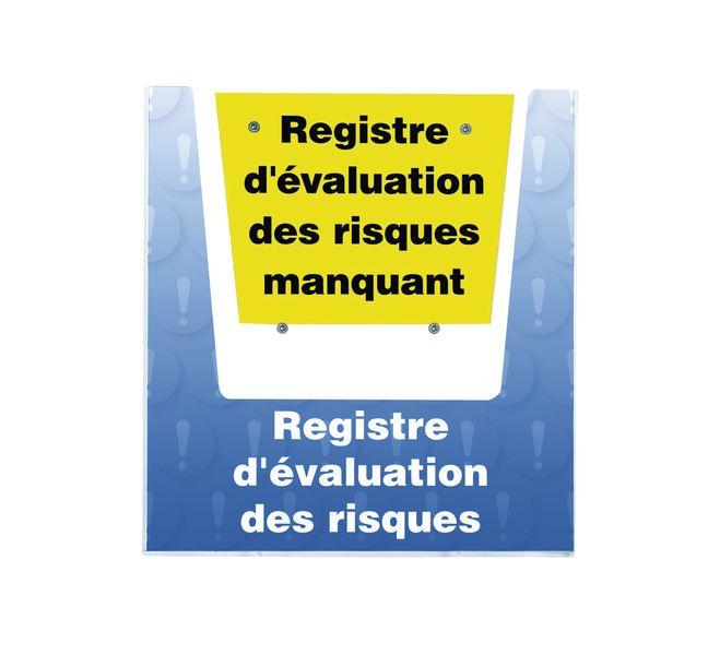 Porte-documents mural - Registre d'évaluation des risques