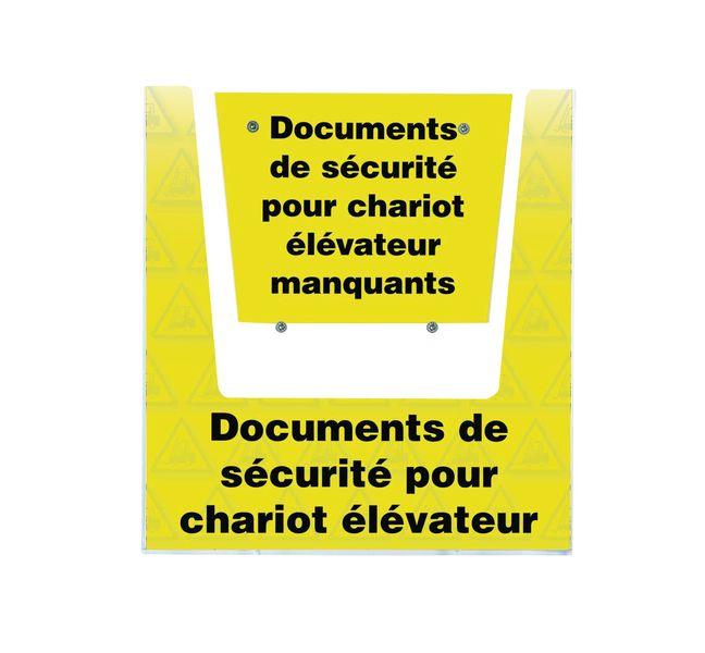 Porte-documents mural - Documents de sécurité pour chariot élévateur