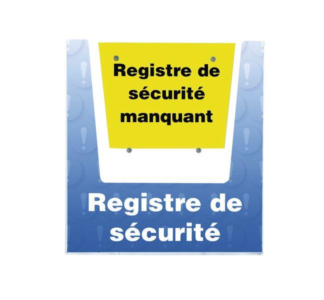 Porte-documents mural - Registre de sécurité