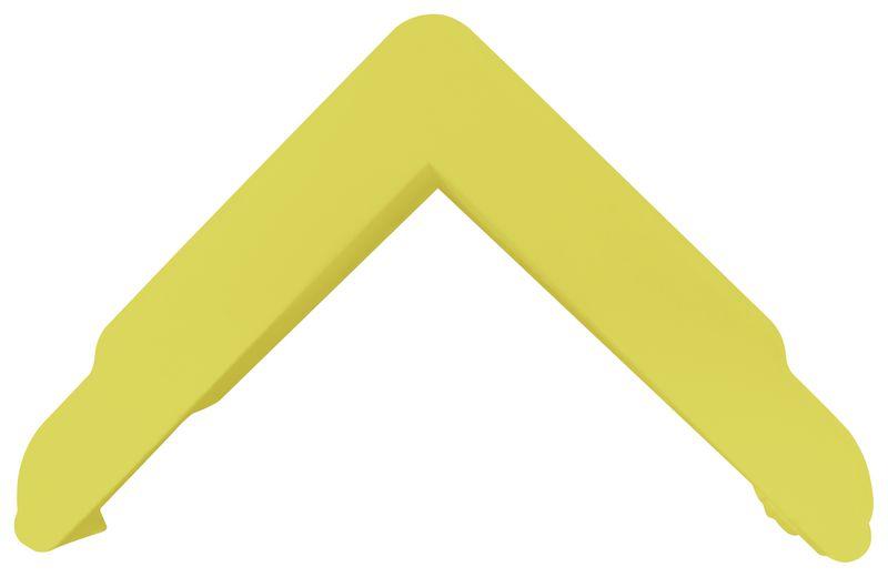 Capot pour butoir de protection à alvéoles plates pour angles