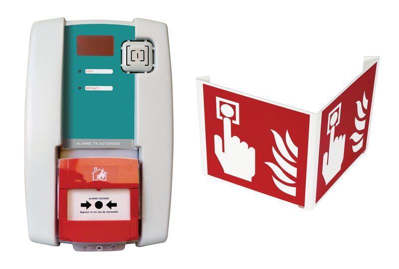 Kit centrale d'alarme autonome type 4 à piles avec flash et signalisation 3D