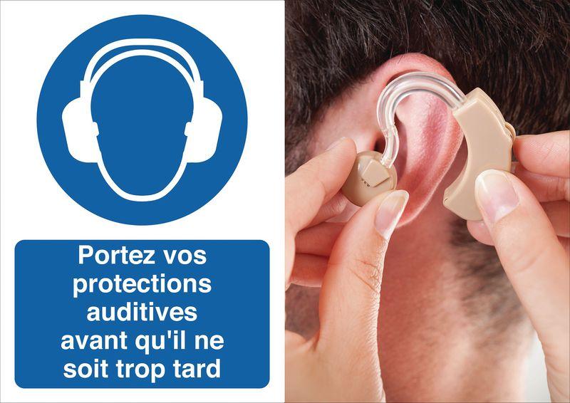 Poster de sécurité - Portez vos protections auditives - M003