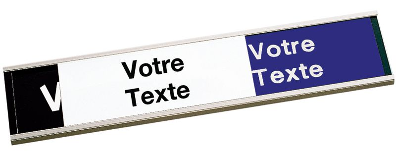 Plaque gravée avec texte au choix sur les 3 panneaux