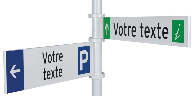 Kit de signalisation directionnelle personnalisée