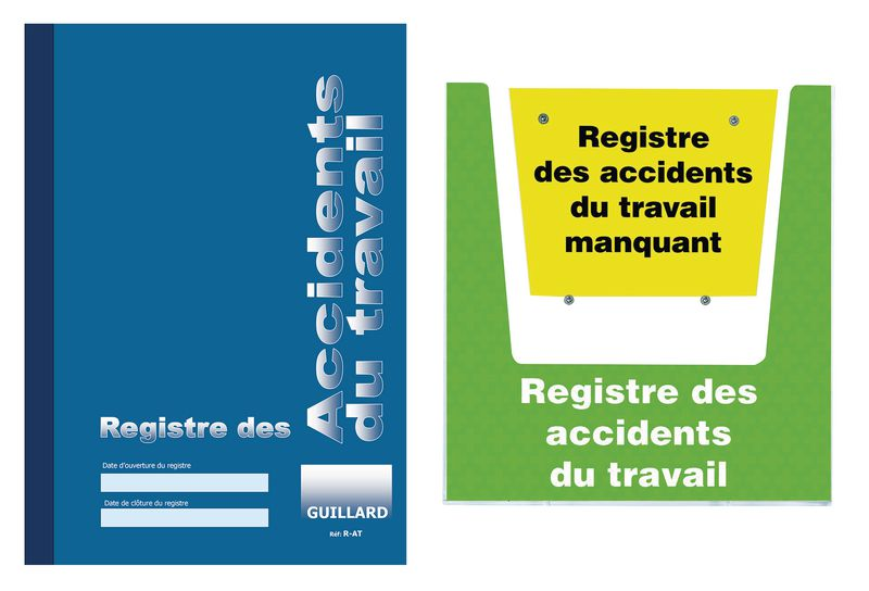 kit registre des accidents du travail avec porte-documents mural