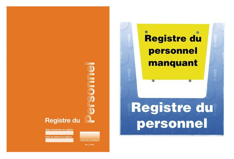 kit registre du personnel avec porte-documents mural