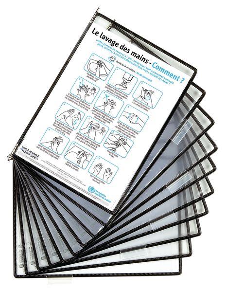 Pochettes de protection antimocrobiennes pour pupitre ou support mural