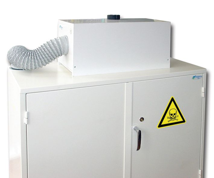 Caisson de filtration pour armoire de stockage produits dangereux