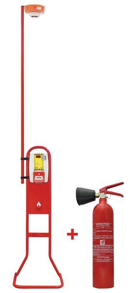 Kit alarme de chantier avec extincteur