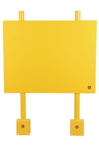 Panneau de communication pour barrière modulable