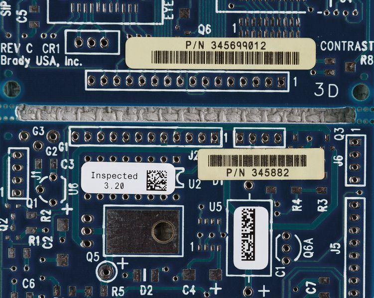 Etiquettes pour le pré-traitement des circuits imprimés pour imprimante BMP71